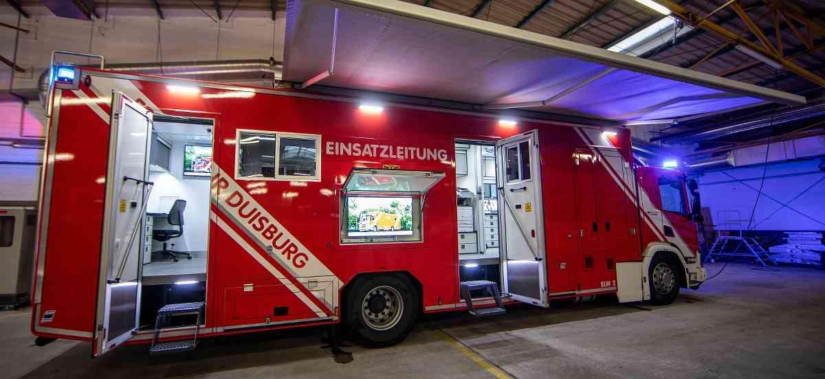 Der neue ELW2 der Feuerwehr Duisburg